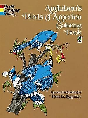 1 of 1 - Audubon's Birds of America Coloring Book (Dover Nature Coloring Book), Good Cond