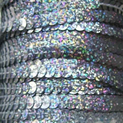 LOTS OF COLOURS TO CHOOSE 2 METRES OF SEQUIN ON A STRING 6MM APPROX