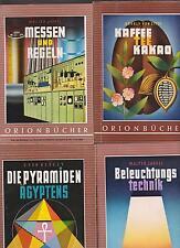 8 kleine Orionbücher, ca. 70er Jahre, seltene Sammlung