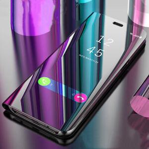 Pour-Samsung-Galaxy-A50-A30-A70-A40-A10-Smart-Clair-Vue-Miroir-Etui-Rabattable
