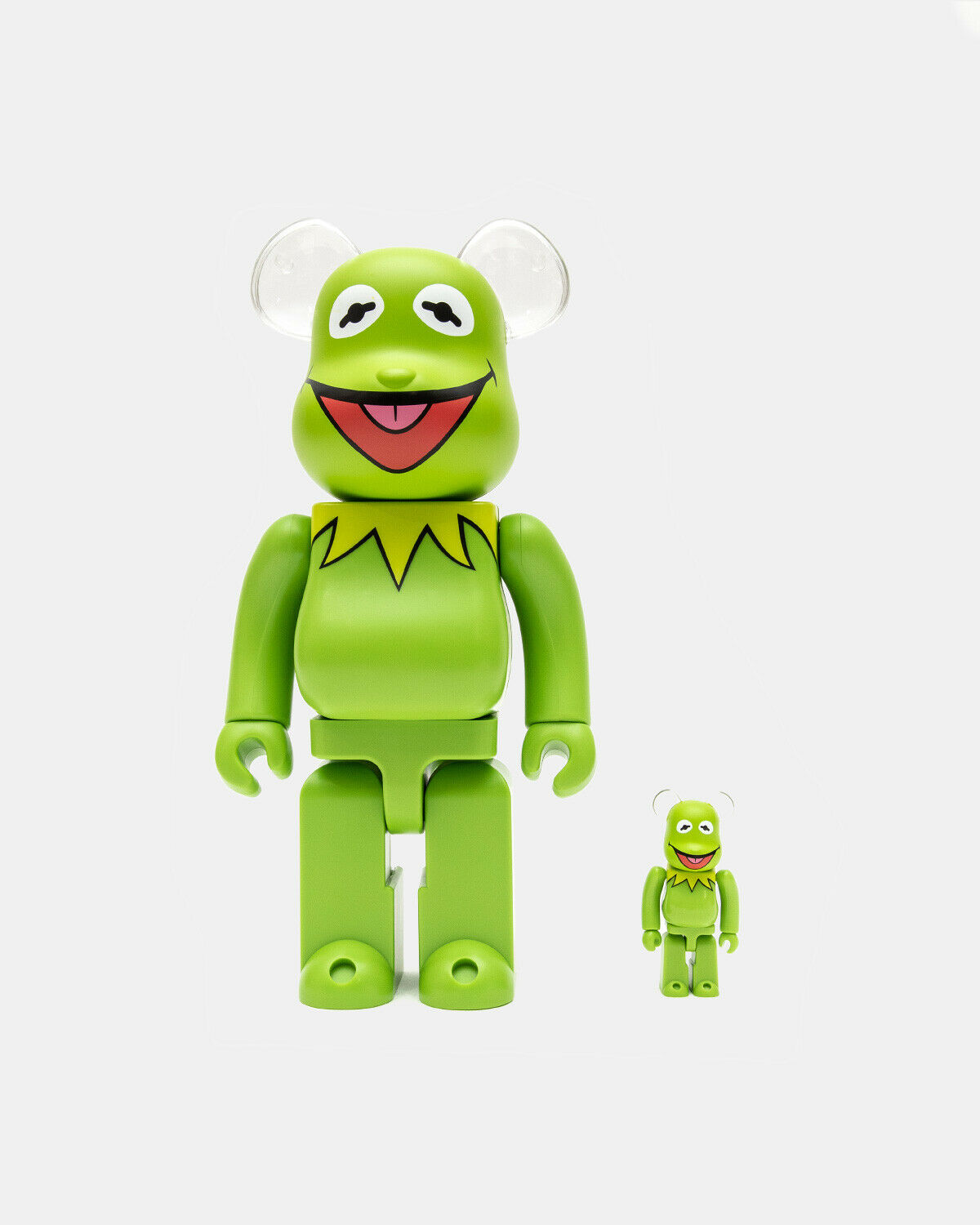 Kermit The Frog Bearbrick 400% 100% Be@rbrick Meet the Muppets Supreme Rare 1000