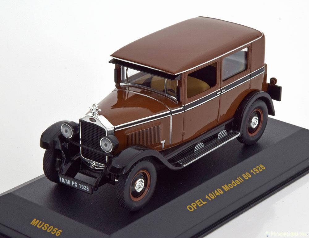 OPEL 10-40 MODELL 80 1928 marron IXO MUS056 1 43 MUSEUM MARRON MARROON