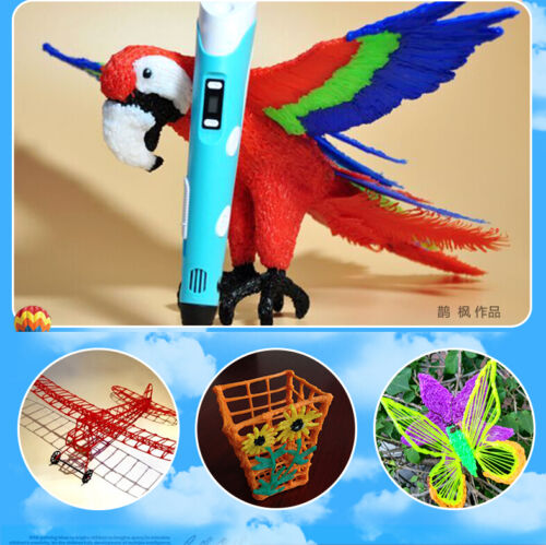 3D Printing Pen Drawing Arts Crafting Modeling Stereoscopic ABS Filament SALE