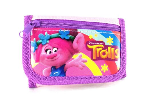 Party Favors Dreamworks Trolls Poppy 2 Card pockets Trifold Wallet-Pink
