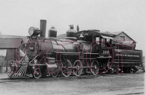 Denver /& Rio Grande Western D/&RGW 8x10 Photo Engine 169 at Denver