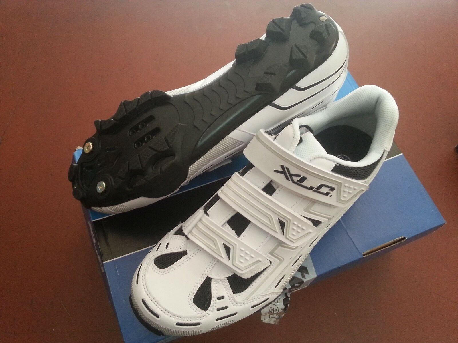 SHOES BIKE MTB SPINNING XLC CB-M06 WHITE CYCLING 3 TEAR SIZE 41