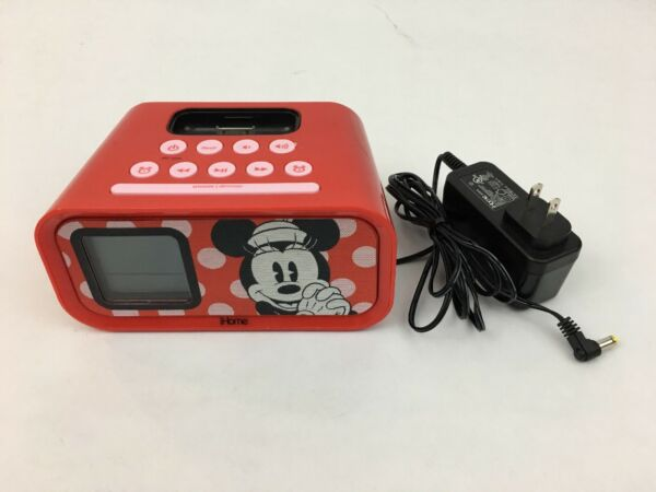 -disney Ihome Minnie Mouse Dual Alarm Clock Speaker System Dm-h22.3