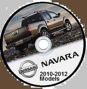 nissan navara d40 series 2010 2012 australian workshop cd inc v9x rh ebay com au Nissan Navara D40 Interior Nissan Trucks