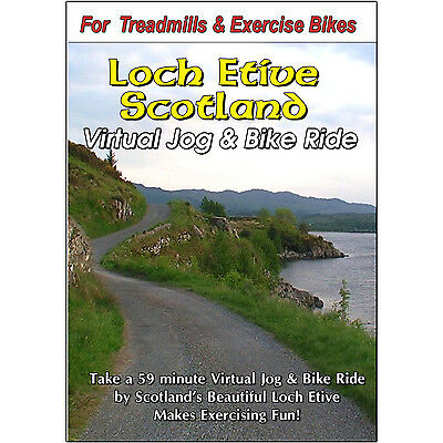 LOCH ETIVE, SCOTLAND CYCLING SCENERY BIKE DVD JOGGING EXERCISE FITNESS VIDEO