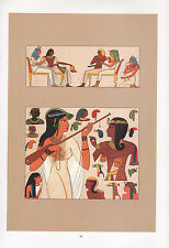 VINTAGE Moda COSTUME STAMPA ~ egiziano headdresses & HAIRSTYLES ~
