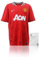 Manchester United 2011/12 Squad Firmado Camisa Aftal Club Oficial Certificado