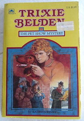 Trixie Belden #37 PET SHOW Mystery Kathryn Kenny Paperback Book