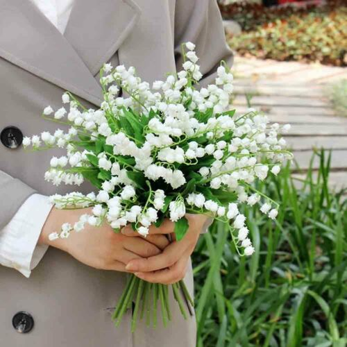 Artificial Fake Lily of the Valley Bridal Flower Wedding Party Home Decoration