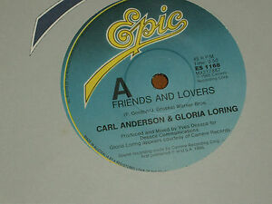 CARL-ANDERSON-amp-GLORIA-LORING-RARE-7-034-45-039-FRIENDS-AND-LOVERS-039-1986-MINT