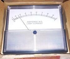 New Weston 2044 Analog Ac Amperes Lamp Current Panel Meter 0 1 Amp