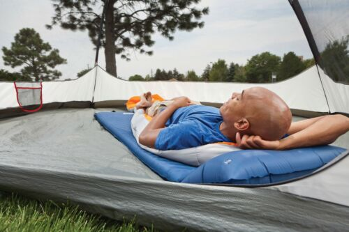 Durable polyester shell Coleman Self-Inflating Camping Pad with Pillow