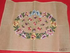Vintage BUCILLA Pre Worked  Needle Point Canvas 140/7 FLORAL 22 by 18 INCH