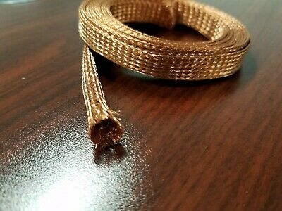 "75 FEET 3//4/"" BRAIDED GROUND STRAP GROUNDING Tinned Copper Flat Braid MADE IN USA"