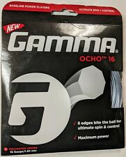 Gamma OCHO 16 gauge 1.30mm 40/' silver tennis racquet string
