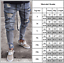 Men-039-s-Skinny-Jeans-Trousers-Biker-Destroyed-Frayed-Slim-Fit-Denim-Ripped-Pants thumbnail 5