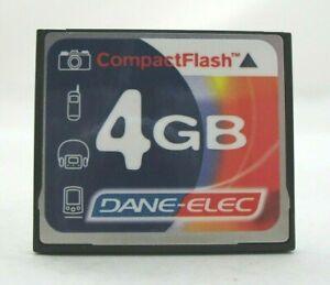 4GB DANE-ELEC Compact Flash Scheda di memoria per fotocamere digitali NIKON CANON