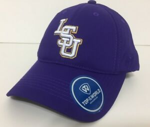 sports shoes 48dc9 a970e Image is loading LSU-Tigers-Hat-Adjustable-Snap-Back-Cap-Color-