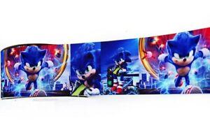 1 2 Yards Sonic The Hedgehog Grosgrain Ribbon Gift Wrap Crafts Cards Lanyards Ebay