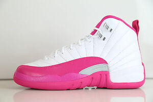 purchase cheap 07664 6e6c0 Nike Air Jordan Retro 12 Vivid Pink GG GS Girls 510815-109 4-9.5 Y ...