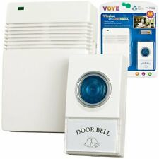 Voye 72-20488 Wireless Remote Control Doorbell with 10 Different Chimes -US -NEW