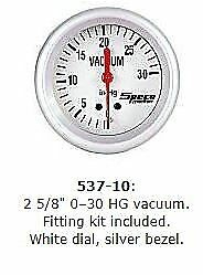 Speco-2-5-8-66mm-0-30-HG-Vacuum-Gauge-P-N-537-10