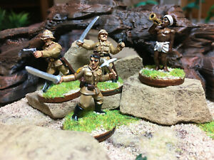 Painted-28mm-Pulp-Figures-Sergeants-Three-and-Gunga-Din-for-Colonial-and-Pulp
