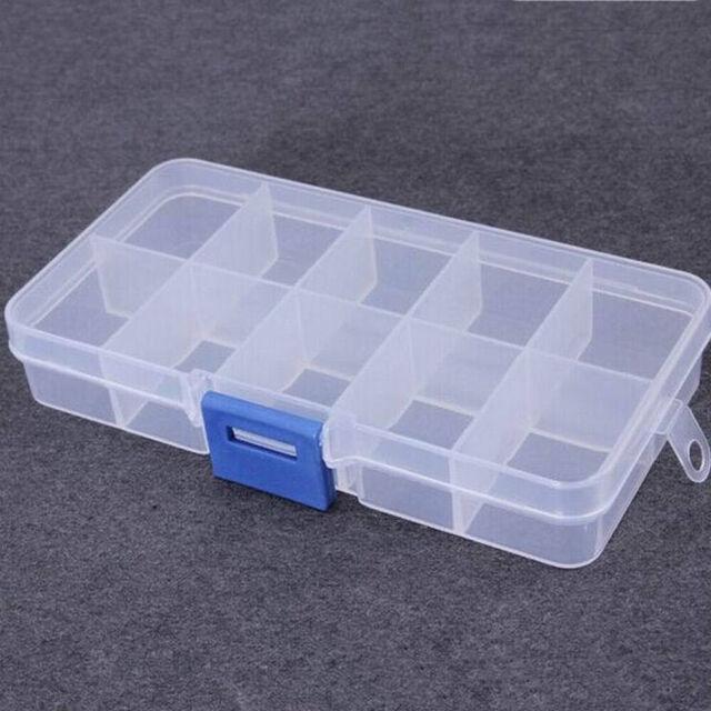 1Pcs 10 Compartment Small Organizer Storage Plastic Box Craft Bead Nail Fuse  NEW for sale onlineeBay