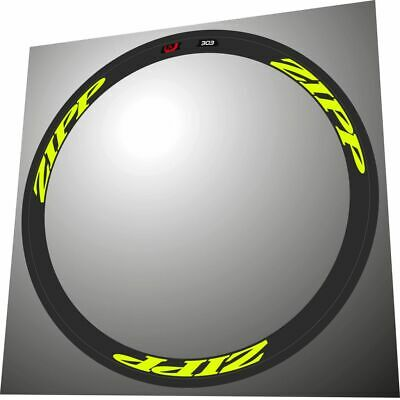 ZIPP 808 2014 STYLE FLUORESCENT YELLOW  REPLACEMENT RIM DECAL SET FOR 2 RIMS