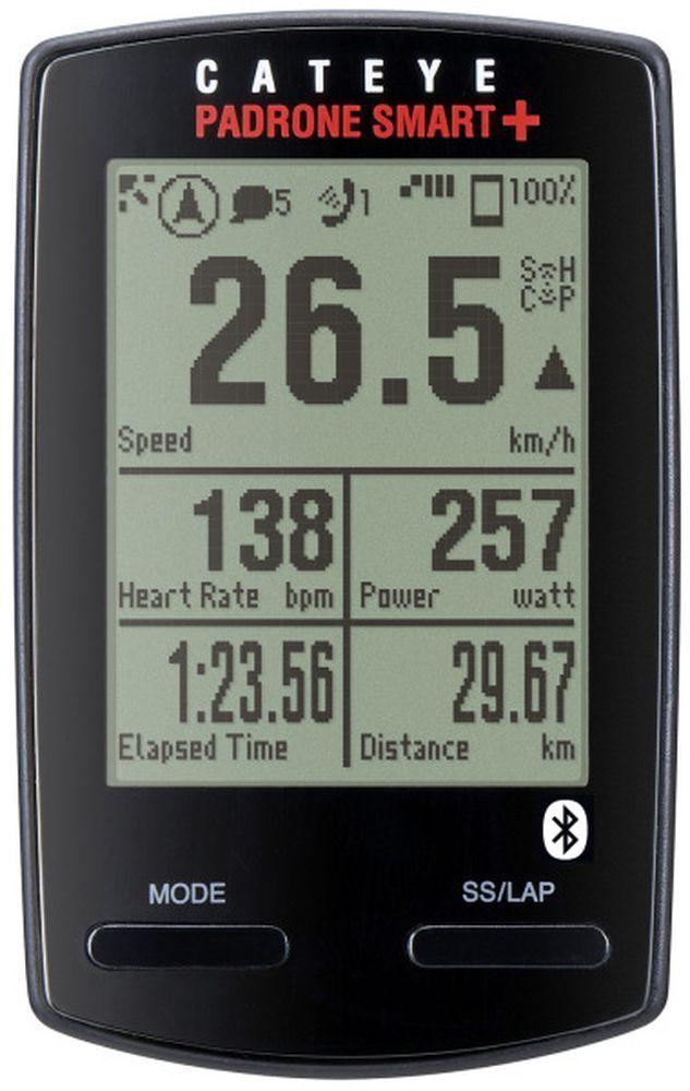Cateye Fahrradcomputer Padrone Smart + CC-SC100B  GPS  NAVI  Smartphone