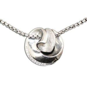 Silberkette Mit Rundem Anhänger