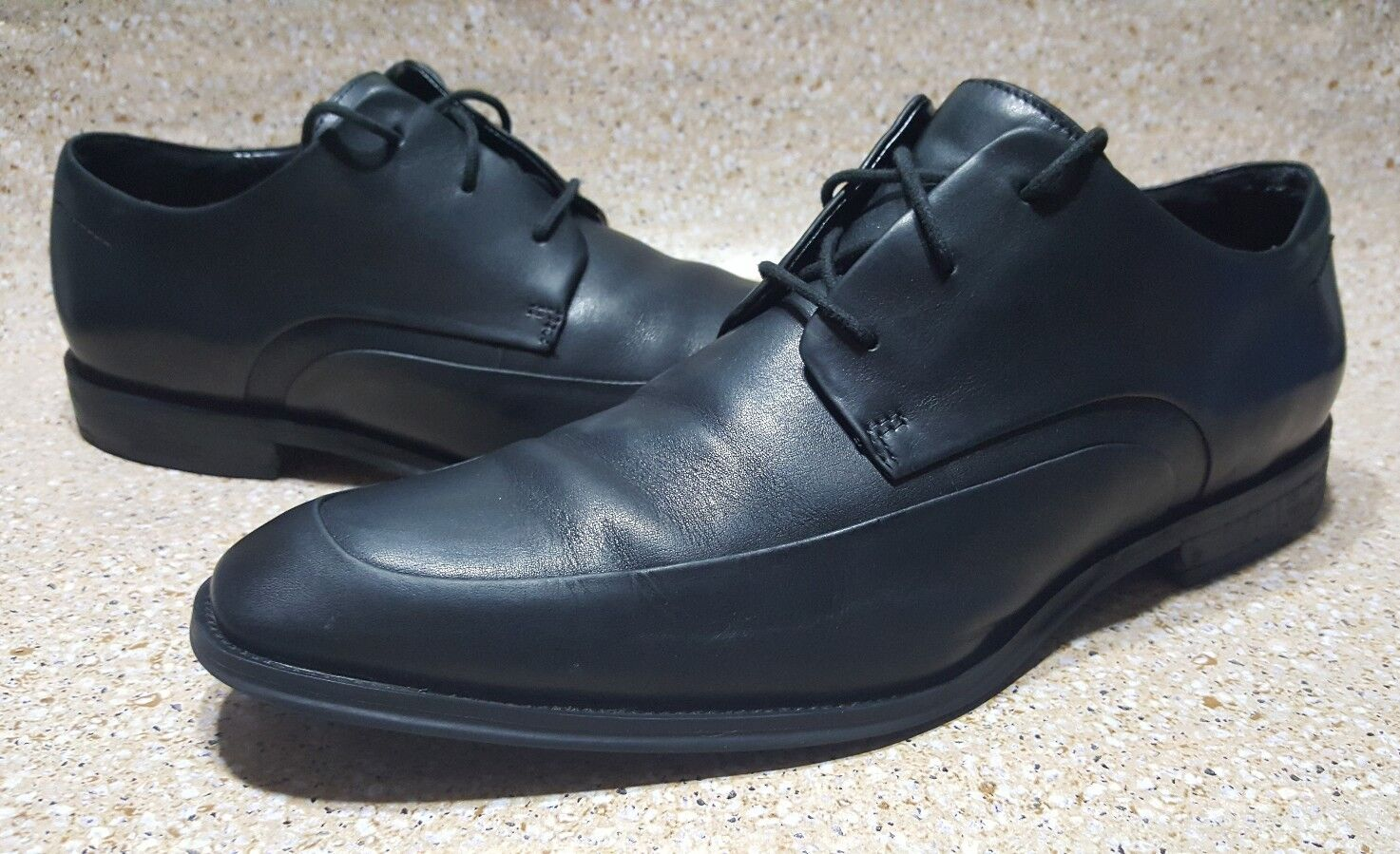 KENNETH COLE SILVER TECHNOLOGY BLACK LEATHER OXFORD LACE UP MEN'S SHOES 11.5 M
