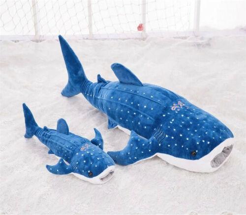 Giant Whale Plush Toy Big Whale Cushion Cartoon Shark Blue Whale Pillow