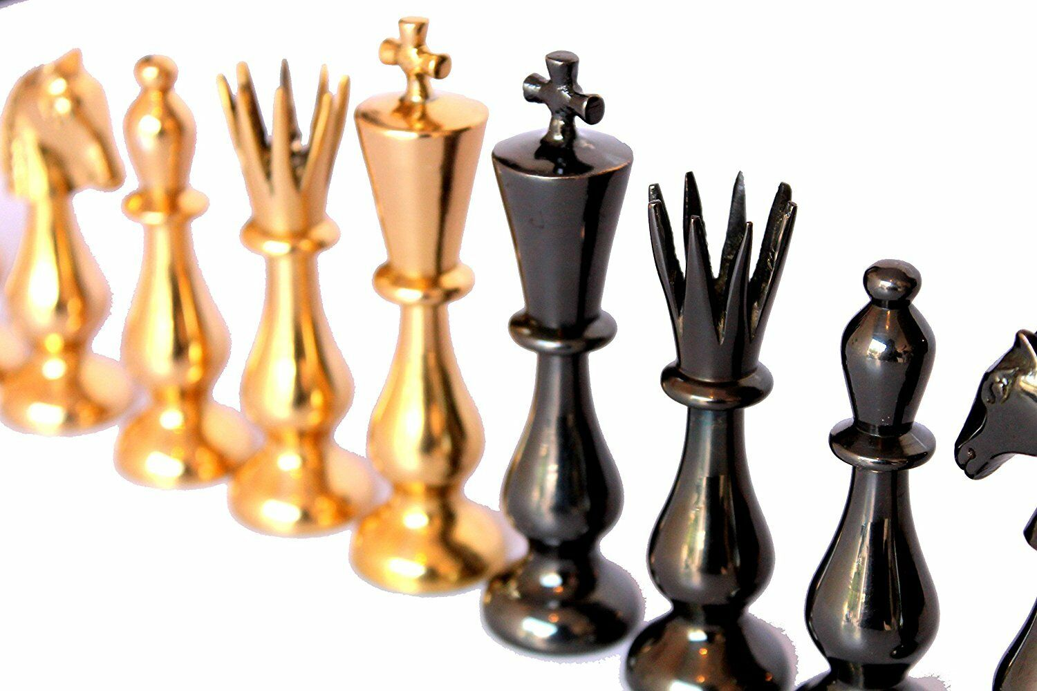 3.5  King Height Collector Edition Brass Brass Brass Classical Style Chess Chessmen Coins 9ff271