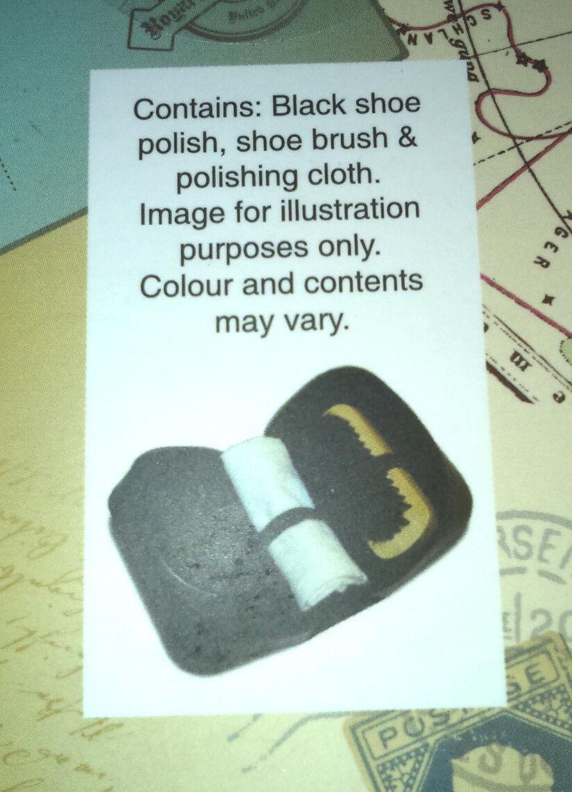 Chaussure Kit de nettoyage de première classe Gent Tin Black Polish Tin Gent Chiffon en Cuir Synthétique Brosse Hommes 26e469