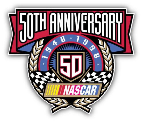 5/'/' or 6/'/' 50 Anniversary Nascar Racing Car Bumper Sticker Decal 3/'/'