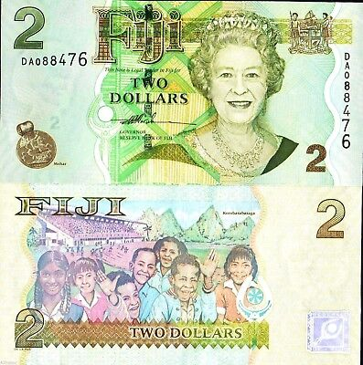 Fiji Islands Banknote P112a 20 Dollars UNC QE II 2007