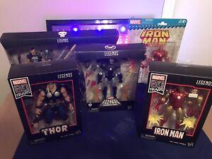 Marvel Legends Lot 80th Anniversary Iron Man Thor Deluxe War Machine + *READ*