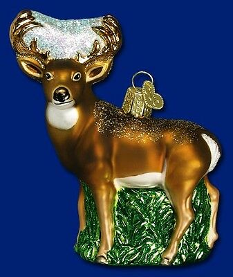 WHITETAIL DEER OLD WORLD CHRISTMAS GLASS WILDLIFE ANIMAL ORNAMENT 12162