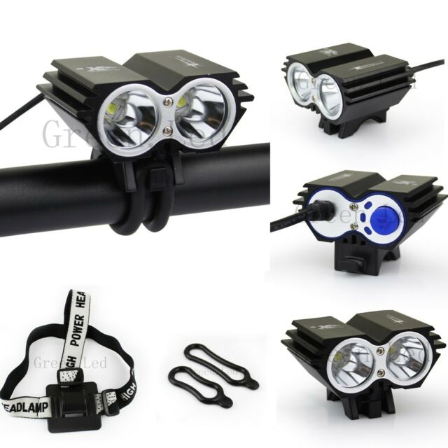 CREE XM-L 2xU2 LED High Lumens 3 Modes Bicycle Bike Light HeadLight Lamp