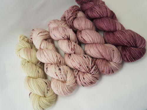 DK weight 100g BROWN ROSE FADE #4 SISAPAMBA SW Merino// Nylon yarn