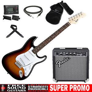 FENDER-Squier-Stratocaster-Bullet-SB-Kit-chitarra-elettrica