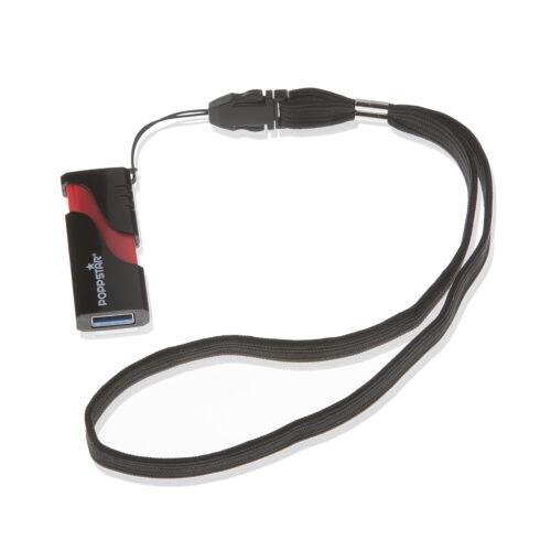 Poppstar 2x muñeca camilla banda negro correa de muñeca para cámara flip celular