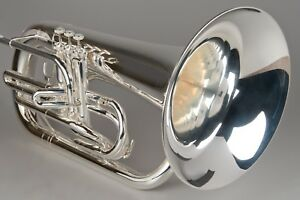 TEMPEST-AGILITY-WINDS-Bb-MARCHING-EUPHONIUM-SILVER-PLATED-HUGE-SOUND-BIG-BRACES