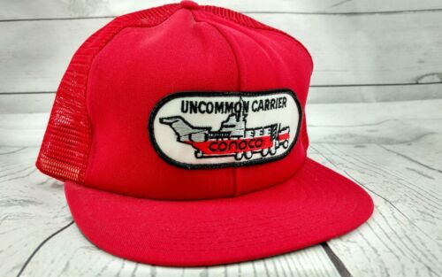 Vintage Red CONOCO Uncommon Carrier Red SNAPBACK P