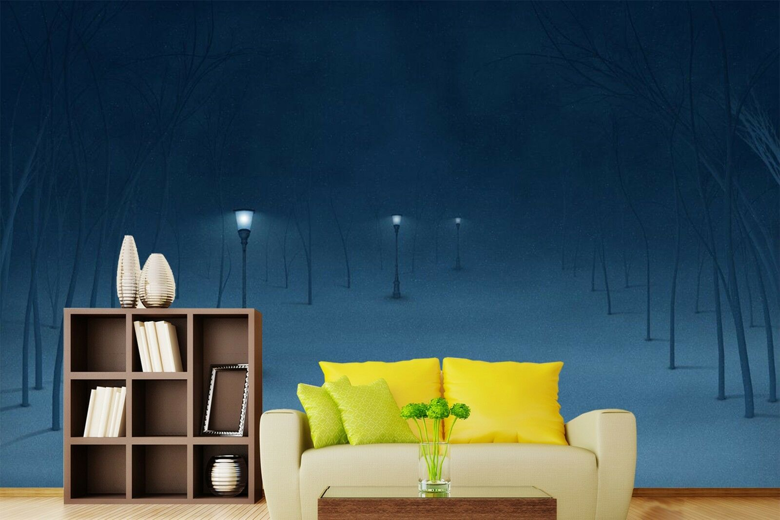 3D 3D 3D Licht Winter Nacht 9655 Tapete Wandgemälde Tapeten Bild Familie DE Lemon 00dbc3